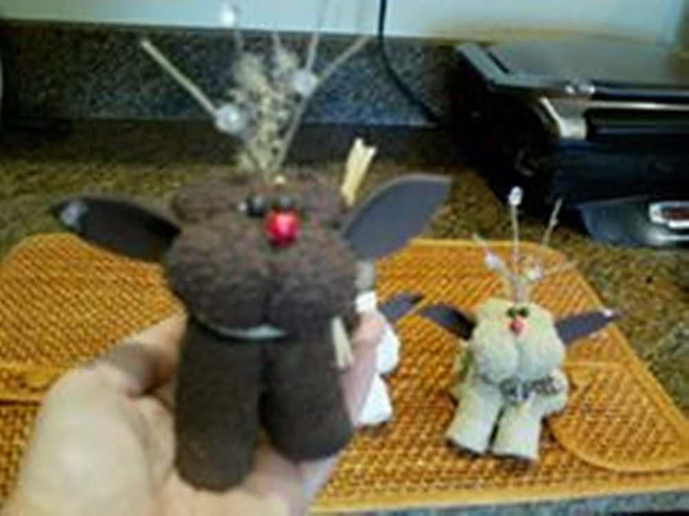 Easy Christmas craft : how to Rudolph