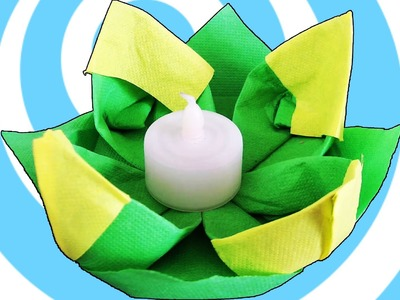Easy Table Decoration Origami water lily from napkins