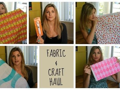 Fabric and Craft Haul