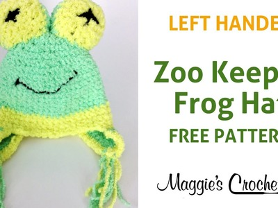 Frog Hat Free Crochet Pattern Left Handed