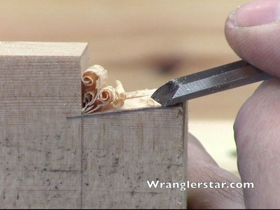 Hand Cutting Dovetail Joints | Wranglerstar
