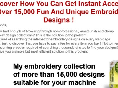 Hand Embroidery Patterns | 15,000 designs