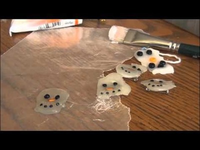 Holiday DIY Melted Snowman Pin Ornament Pendant