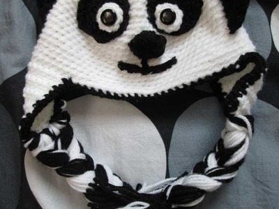 How to Crochet an Adult Panda Hat Part 2