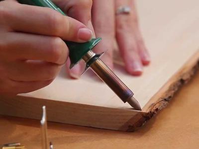 How to Make a DIY Wood-Burned Cheese Board - HGTV - Weekday Crafternoon