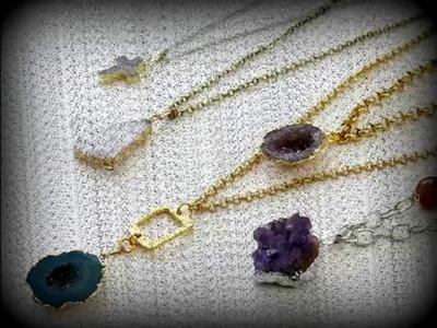 How to make a druzy necklace