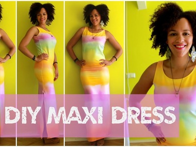 How To Make a Maxi Dress in 15 min | DIY Clothes