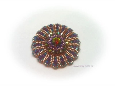 How to make a pendant  using delica, rivoli, seedbeads and swarovski