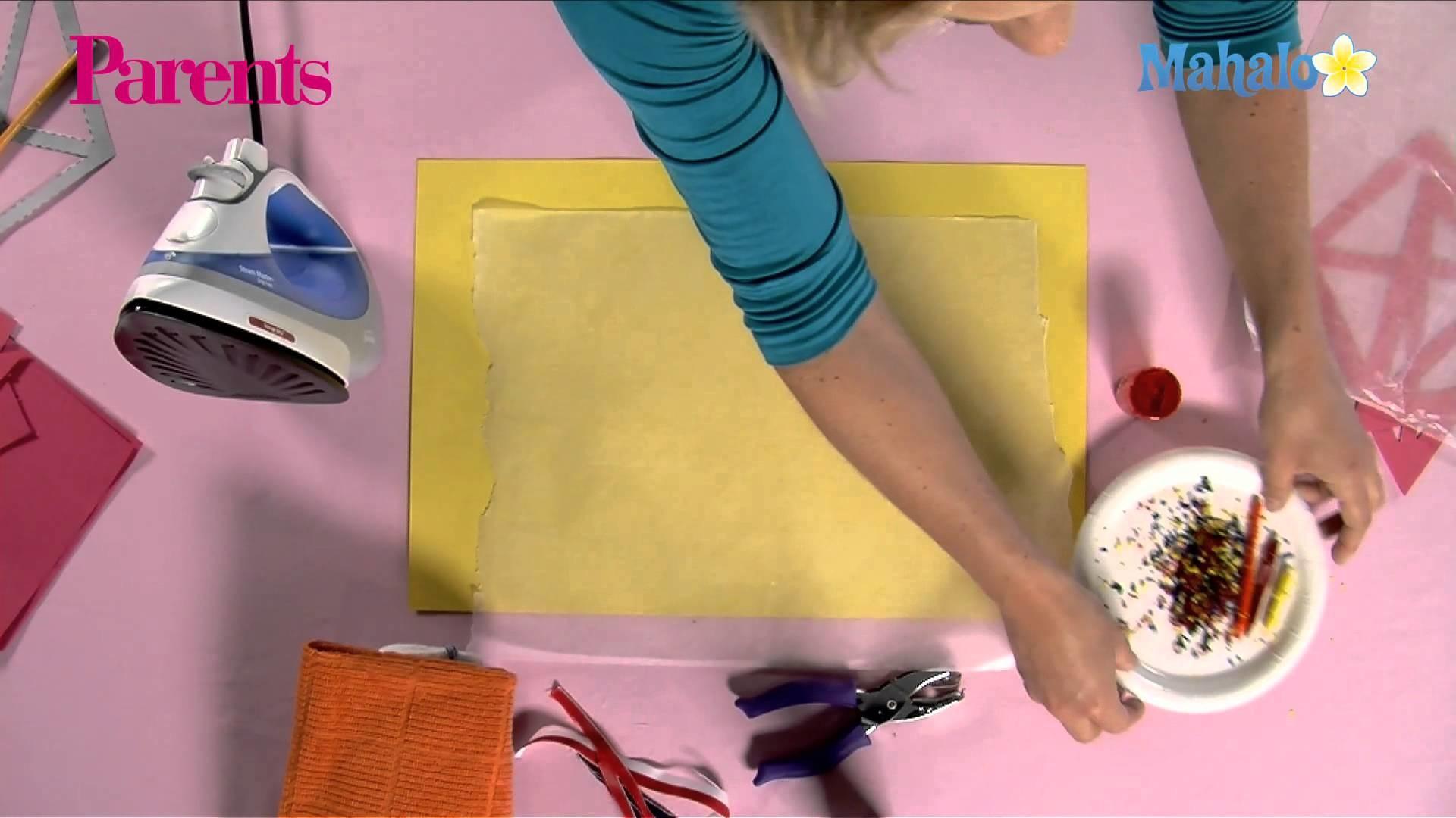 How to Make a Wax Crayon Kite