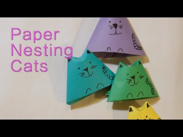 How to Make Origami Nesting Cats - Spring Craft COLLAB