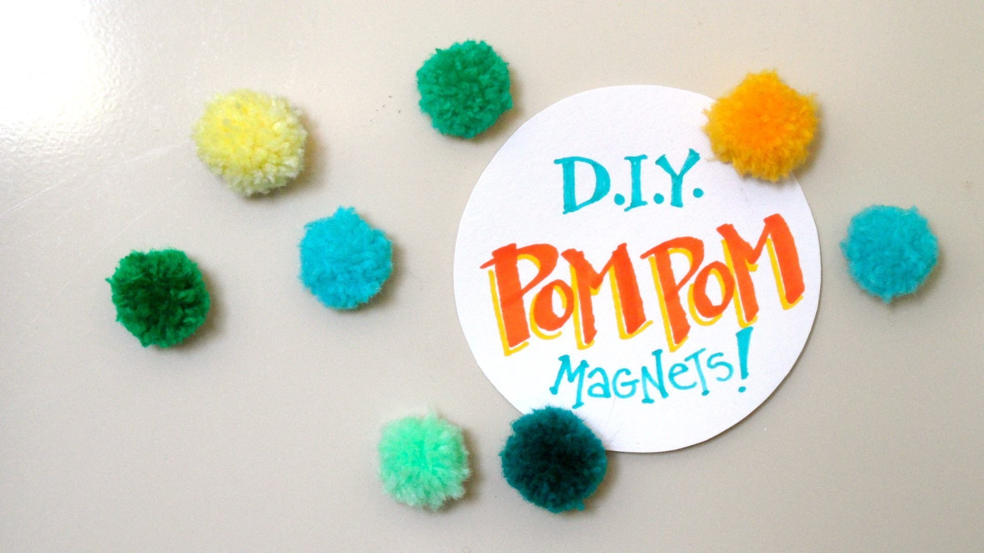 How to Make Pom Pom Magnets Tacks DIY Decoration