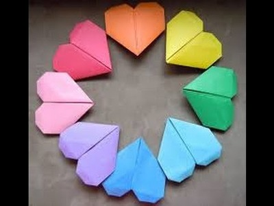Kako napraviti srce od papira (Heart shaped paper) - Origami