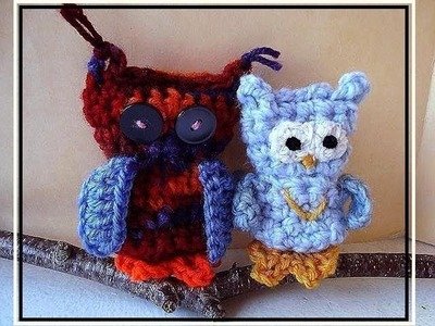 LITTLE CROCHETED OWL, How to diy,