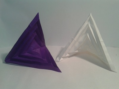 Origami: How to make a paper decoration