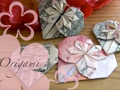 Origami: MeiIris' Dollar Heart Tutorial