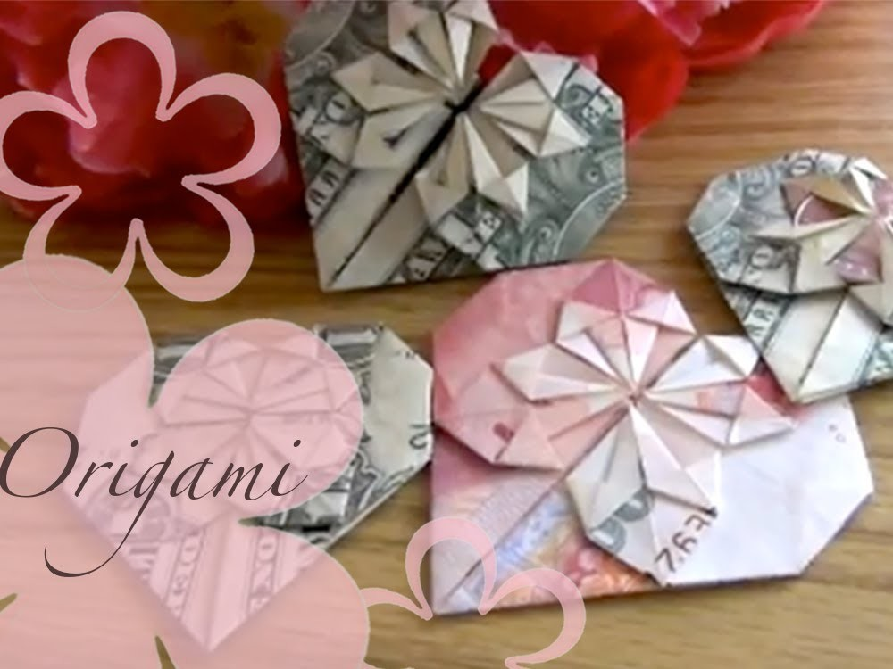 Origami: MeiIris' Dollar Heart Tutorial