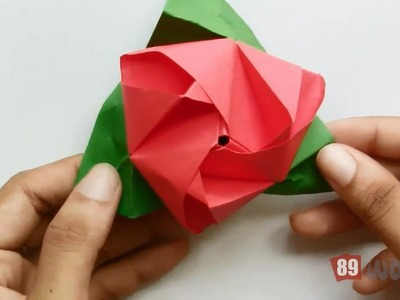 Origami Paper Works 2014 | Rose Flower Cube | Work #03