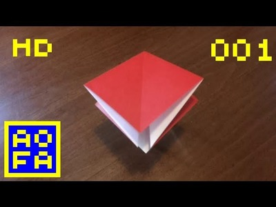 Origami preliminary base - How to make an origami preliminary base . for all (01) (HD)
