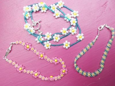 PandaHall Jewelry Making Tutorial Video--How to Make Daisy Chain Bracelets in 3 Different Ways