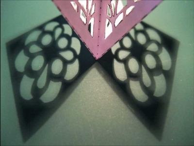 Papercraft - pop-up - pop-up star - dutchpapergirl