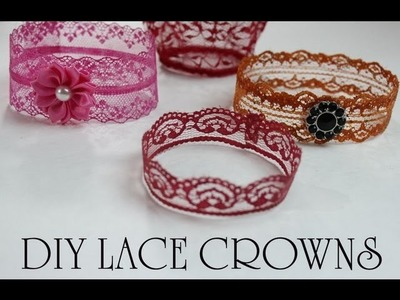 Pintober #4 DIY LACE CROWN (How to make a mini crown) TUTORIAL