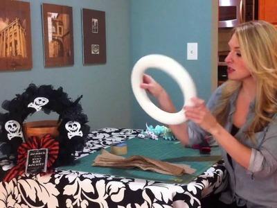 Quick & Easy Burlap Wreath! Quick Crafts with Brittany Spriggs
