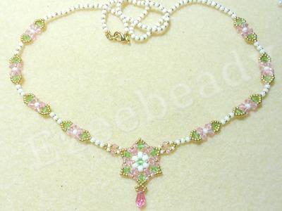 Romantic Roses Necklace Beading Video Tutorial by Ezeebeady