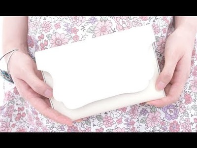 Sewing + DIY simple white leather clutch bag