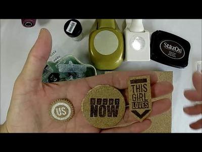 Tuesday Tutorial DIY Cork Embellishments- Chic Tags