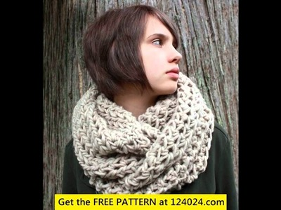 Tunisian crochet infinity scarf free pattern