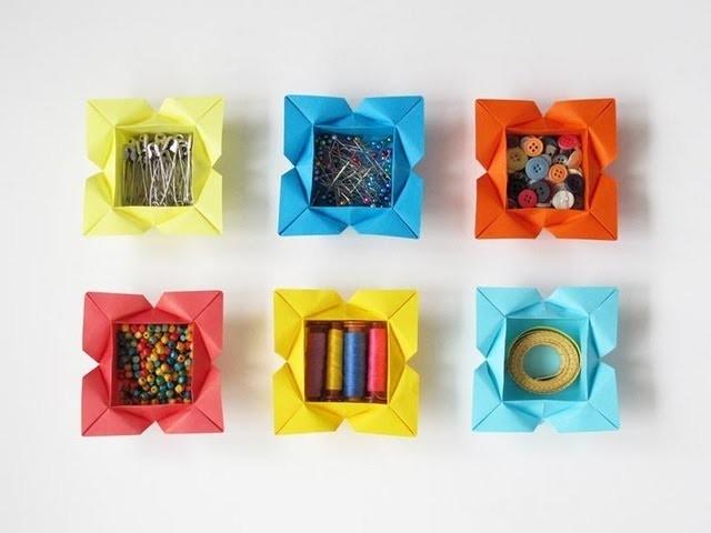 Tutorial for an Origami Heart-Petal Box