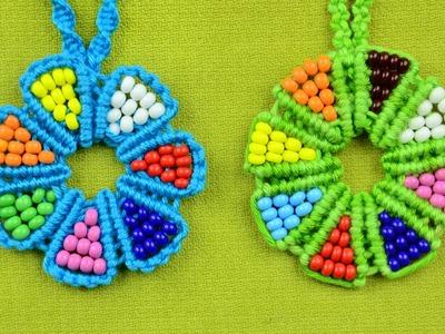 Beaded Macrame Flower - Necklace (DIY)