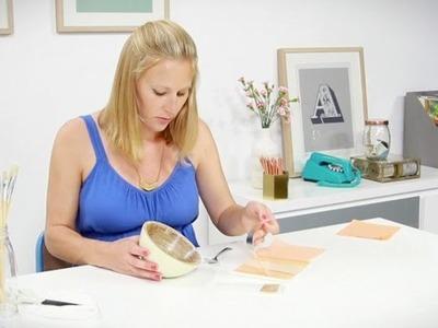Craft corner: How to make a gold leaf bowl