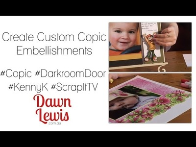 Creating Custom Scrapbook Embellishments with Digital Stamps and Copic Markers.