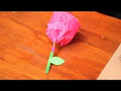 Creative Crafts With Flowers for Kids : Valentine's Day Crafts