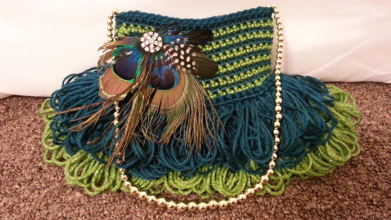 #Crochet Handbag Purse #TUTORIAL #DIY Crochet Bag Pretty Handbag