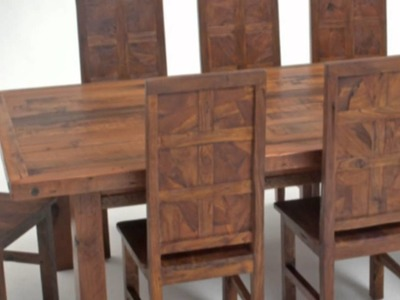 Custom Rustic Furniture Company, Natural Wood Table, Chairs
