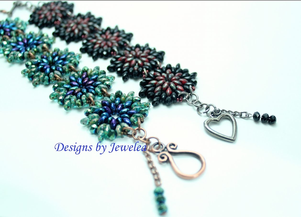 Designs by Jewelea: Tutorial of Superduo & Chinese Polished Beads Bracelet