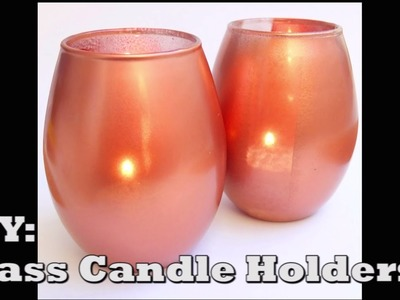 ✯☃❄ DIY Candle Holder from a regular glass =) ❄☃✯