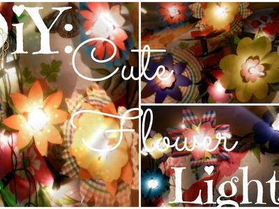 DIY: Cute Flower Lights!