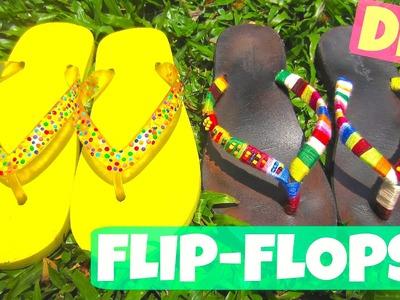 DIY Flip-flops: Sprinkles & Tribal