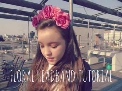 DIY Floral Headband Tutorial!