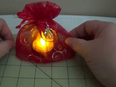 DIY~Glowing Organza Christmas Candle Holder! Party Favor!