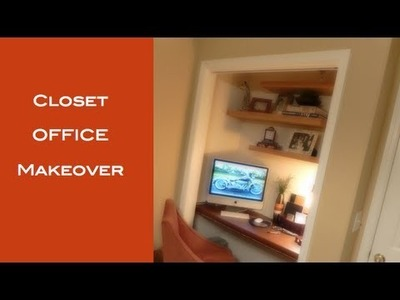 DIY: How To Turn A Closet Into A Office