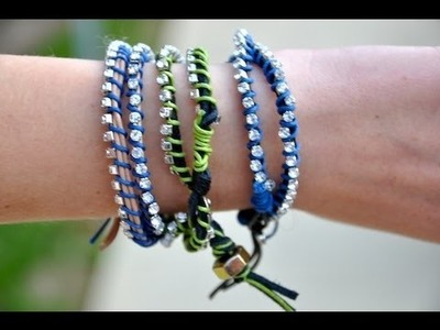 DIY: Leather Wrap Bracelets