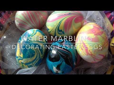 DIY: Marbled Eggs ♡ {Easter Egg Decorating} ♡ Jessica Joaquin
