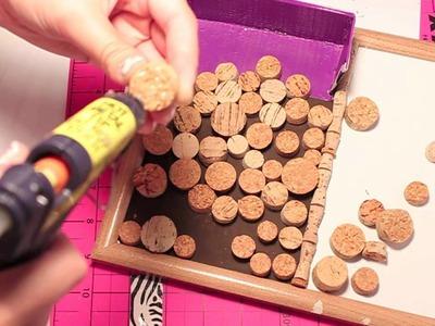 DIY  personalized cork board.white board