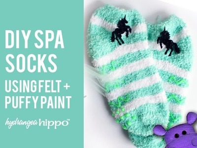 DIY Spa Gift Set with Felt and Puffy Paint