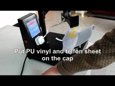 "DIY Sports Cap Hat by 24"" Cutting Plotter PU Heat Transfer Vinyl Cap Heat Press.wmv"
