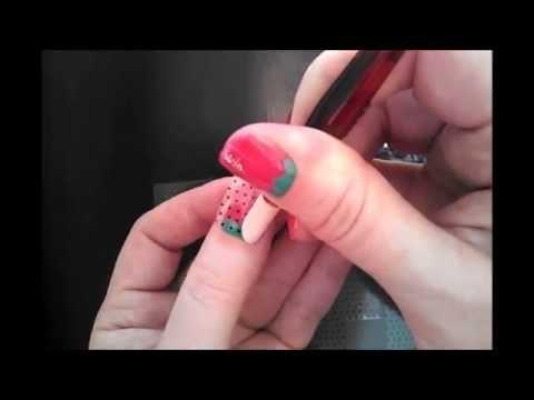 DIY Strawberry Nail Art Tutorial Using Jamberry Nails!